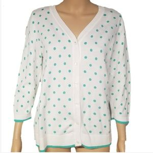 Christopher & Banks Polka Dot Cardigan